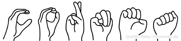 Cornea in Fingersprache für Gehörlose
