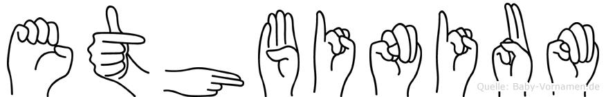 Ethbinium im Fingeralphabet der Deutschen Gebärdensprache