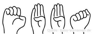 Ebba in Fingersprache für Gehörlose