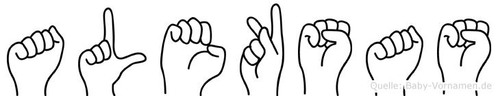 Aleksas in Fingersprache für Gehörlose