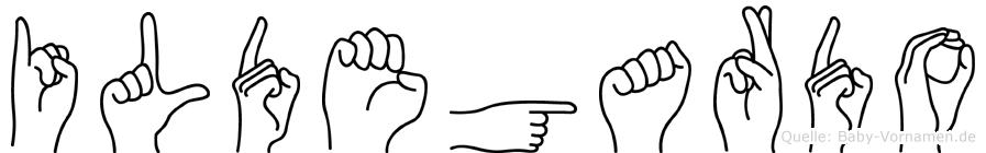 Ildegardo in Fingersprache für Gehörlose