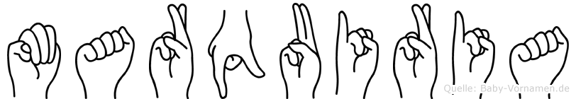 Marquiria in Fingersprache für Gehörlose