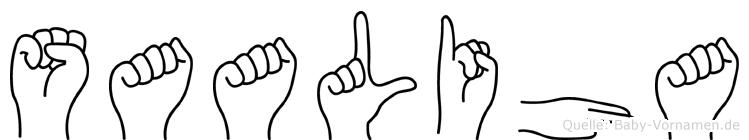 Saaliha in Fingersprache für Gehörlose