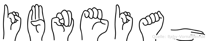 Ibneiah in Fingersprache für Gehörlose