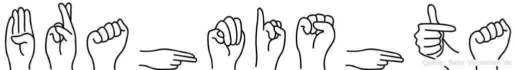 Brahmishta in Fingersprache für Gehörlose