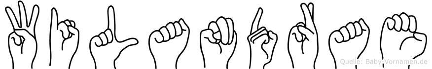 Wilandrae in Fingersprache für Gehörlose