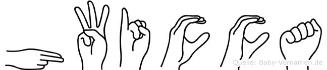 Hwicca in Fingersprache für Gehörlose