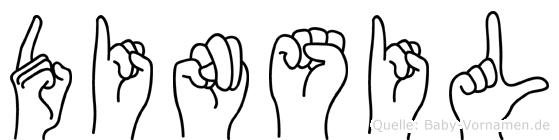 Dinsil in Fingersprache für Gehörlose