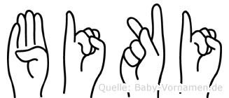 Biki in Fingersprache für Gehörlose