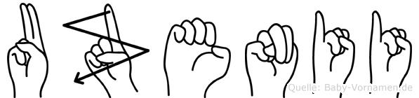 Uzenii in Fingersprache für Gehörlose