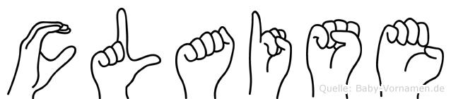Claise in Fingersprache für Gehörlose
