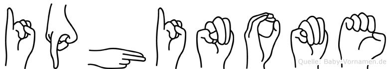 Iphinome in Fingersprache für Gehörlose
