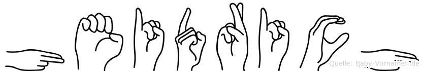 Heidrich in Fingersprache für Gehörlose