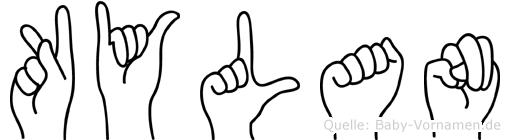 Kylan im Fingeralphabet der Deutschen Gebärdensprache