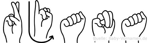 Rjana im Fingeralphabet der Deutschen Gebärdensprache