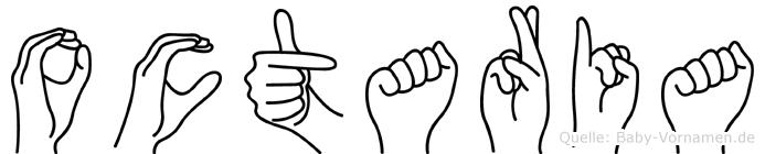 Octaria im Fingeralphabet der Deutschen Gebärdensprache