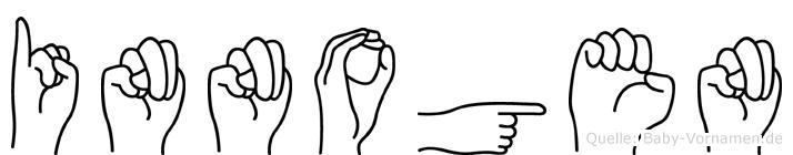 Innogen im Fingeralphabet der Deutschen Gebärdensprache