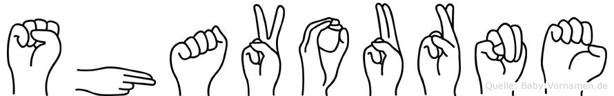 Shavourne im Fingeralphabet der Deutschen Gebärdensprache