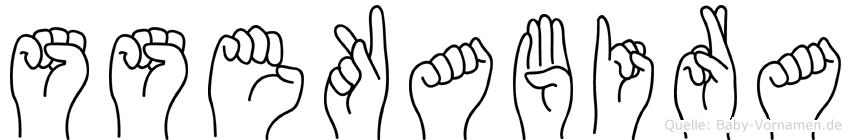 Ssekabira im Fingeralphabet der Deutschen Gebärdensprache