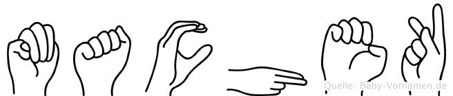 Machek im Fingeralphabet der Deutschen Gebärdensprache
