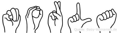 Norla in Fingersprache für Gehörlose