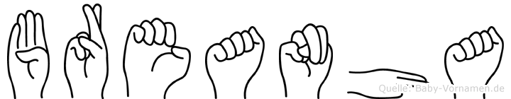 Breanha in Fingersprache für Gehörlose