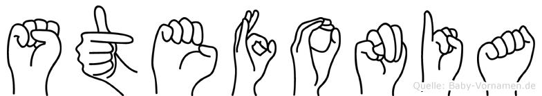 Stefonia im Fingeralphabet der Deutschen Gebärdensprache