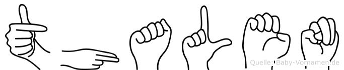 Thalen im Fingeralphabet der Deutschen Gebärdensprache
