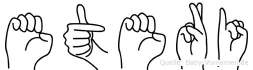 Eteri im Fingeralphabet der Deutschen Gebärdensprache