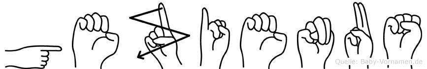 Gezienus in Fingersprache für Gehörlose