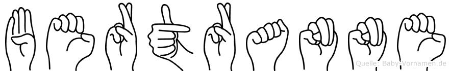 Bertranne in Fingersprache für Gehörlose