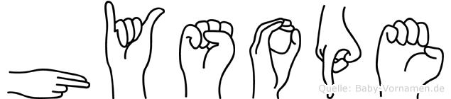 Hysope im Fingeralphabet der Deutschen Gebärdensprache