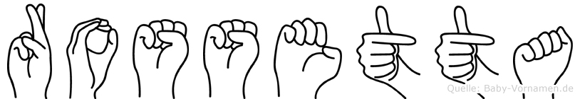 Rossetta in Fingersprache für Gehörlose