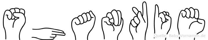 Shankie in Fingersprache für Gehörlose