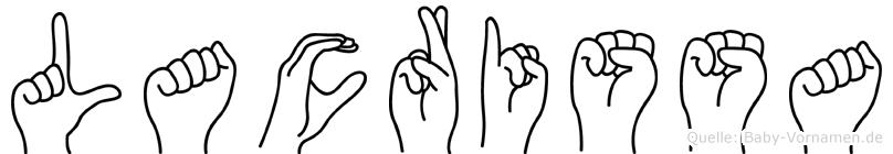Lacrissa in Fingersprache für Gehörlose