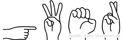 Gwer in Fingersprache für Gehörlose
