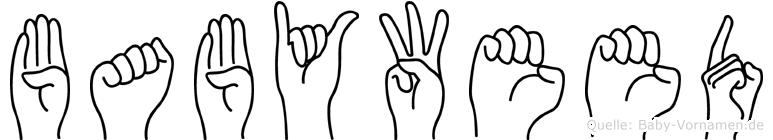 Babyweed im Fingeralphabet der Deutschen Gebärdensprache