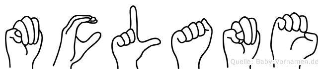 Mclane im Fingeralphabet der Deutschen Gebärdensprache