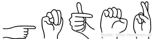 Günter in Fingersprache für Gehörlose