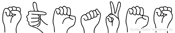 Steaves im Fingeralphabet der Deutschen Gebärdensprache