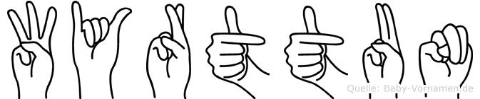 Wyrttun in Fingersprache für Gehörlose