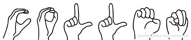 Collen im Fingeralphabet der Deutschen Gebärdensprache