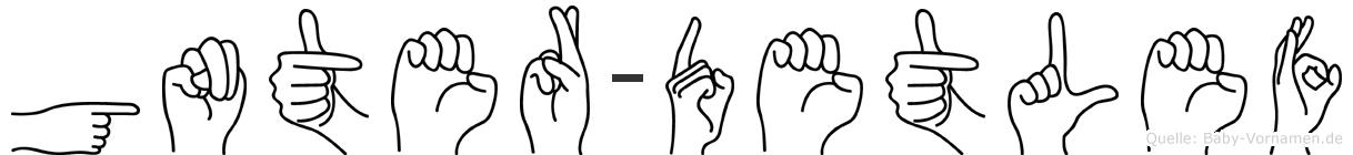 Günter-Detlef im Fingeralphabet der Deutschen Gebärdensprache