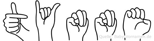 Tynne im Fingeralphabet der Deutschen Gebärdensprache