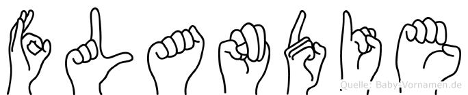 Flandie im Fingeralphabet der Deutschen Gebärdensprache