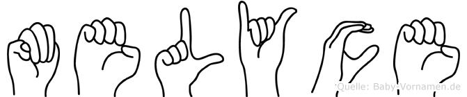 Melyce im Fingeralphabet der Deutschen Gebärdensprache