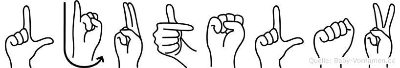 Ljutslav im Fingeralphabet der Deutschen Gebärdensprache