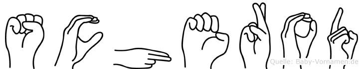 Scherod in Fingersprache für Gehörlose