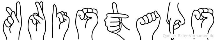 Kristaps in Fingersprache für Gehörlose
