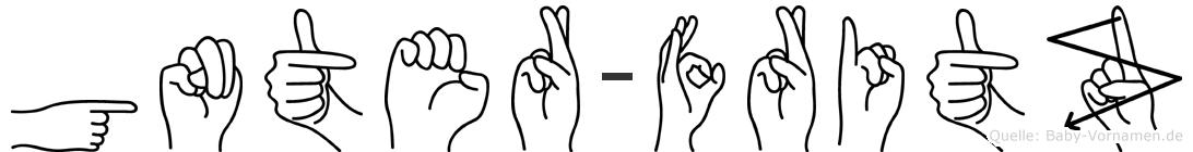 Günter-Fritz im Fingeralphabet der Deutschen Gebärdensprache